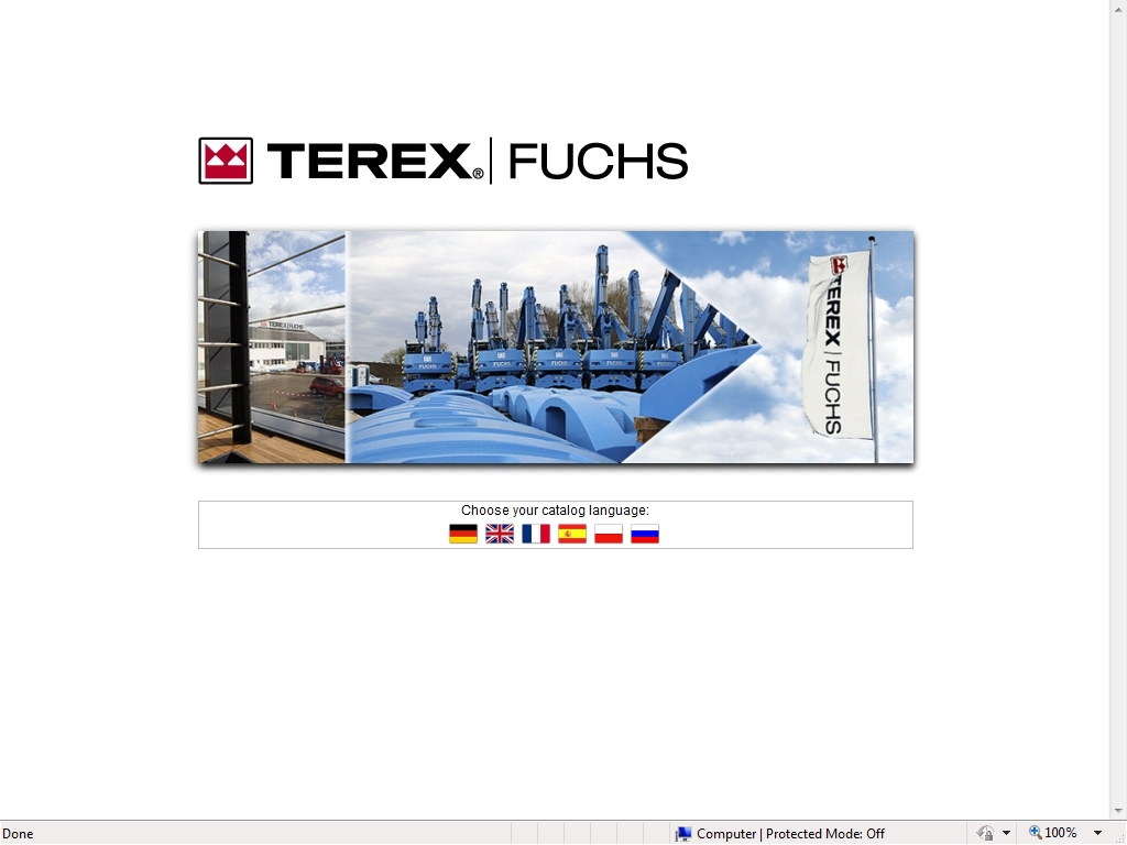 <b>Terex / Fuchs 2010</b><br>Parts catalog for Terex / Fuchs equipment