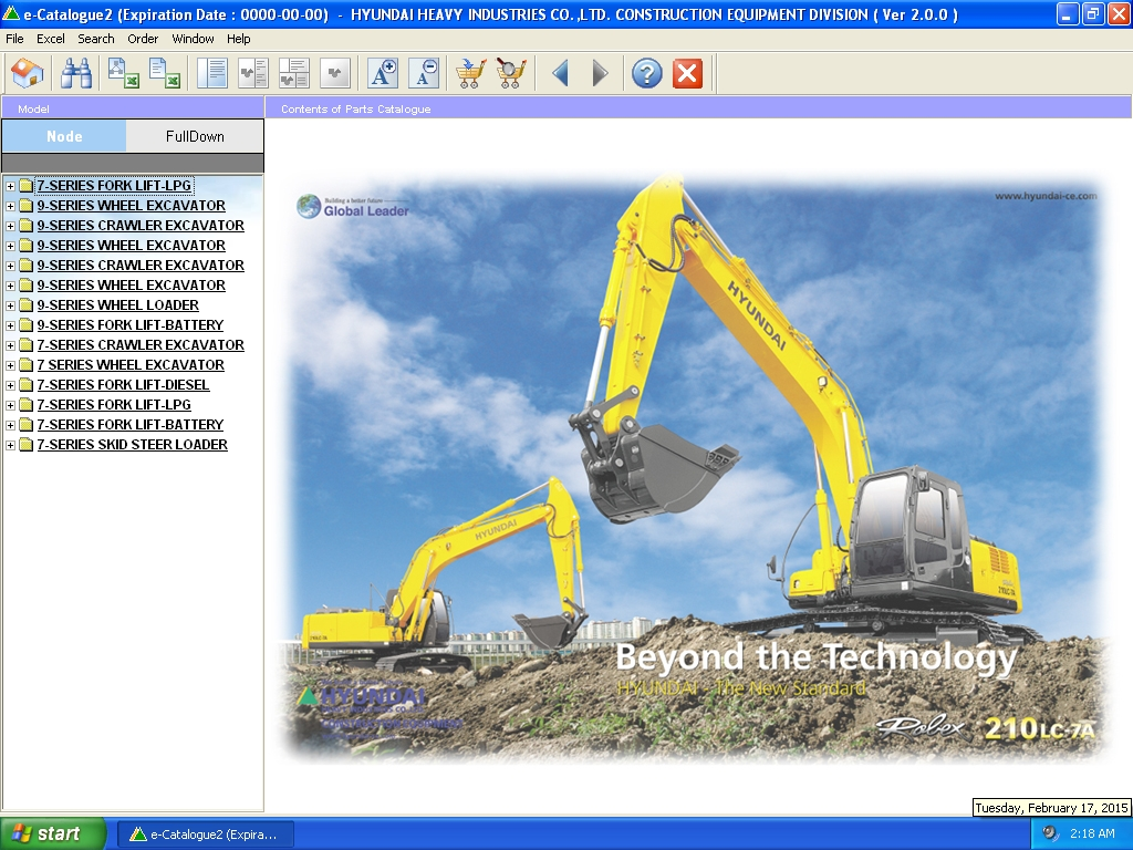 <b>Hyundai Construction Equipment / Forklift [01/2013]</b><br>Parts catalog for Hyundai excavators, loaders, forklifts, etc.