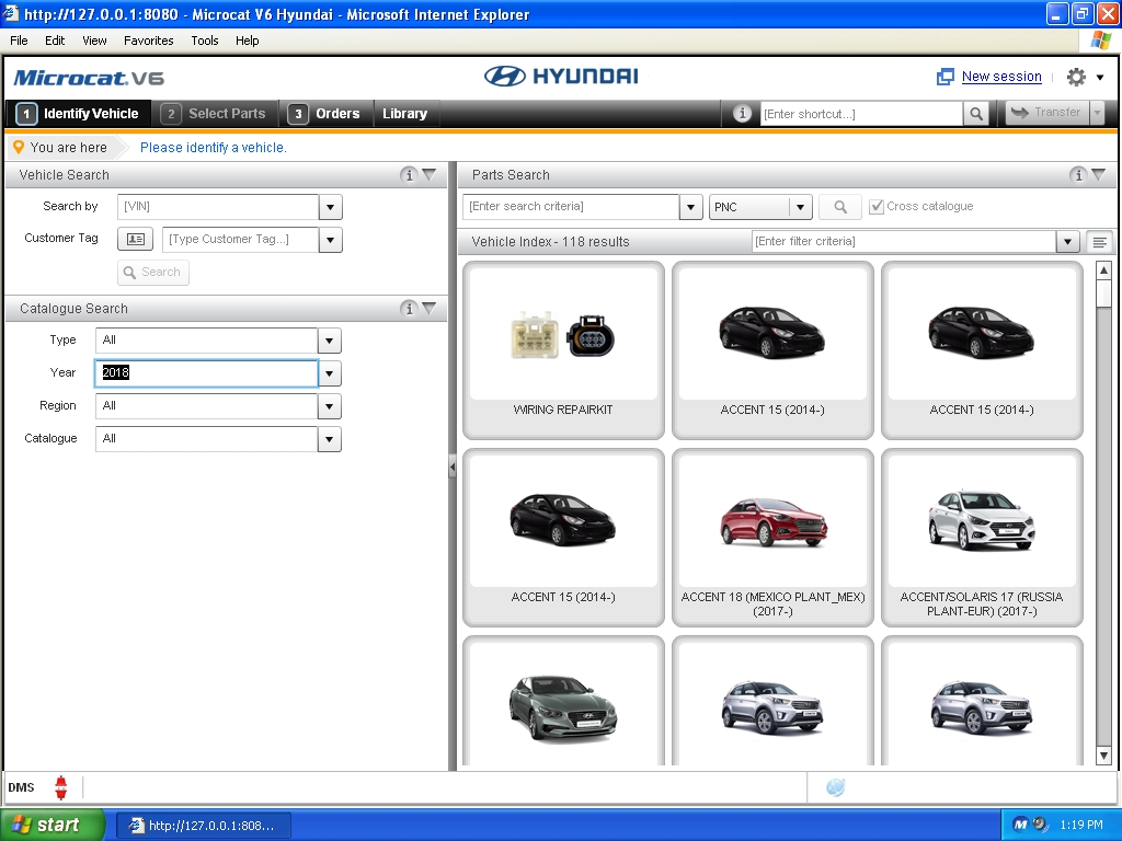 <b>HYUNDAI MCAT V6 [10/2017] <sup><font color=red>new interface</font></sup></b><br>Cars & trucks & bus, parts catalog. VMWare.